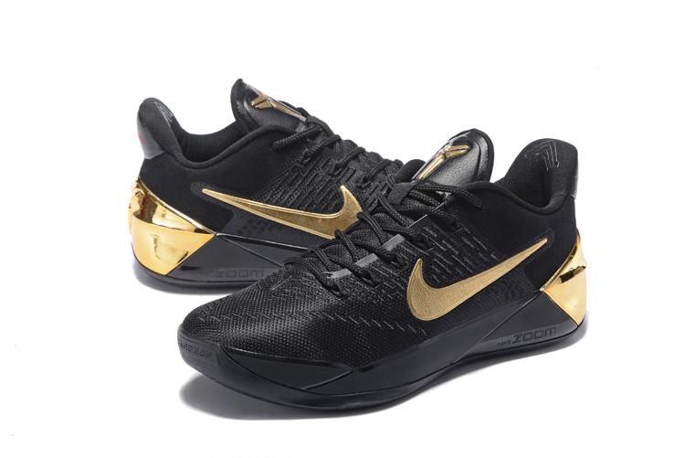 2017 Nike Kobe 12 AD Black Gloden Shoes