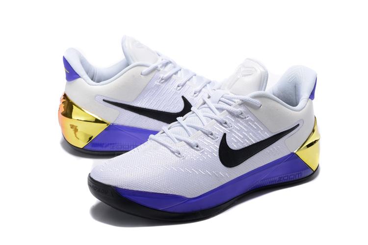 2017 Nike Kobe 12 AD White Purple Shoes