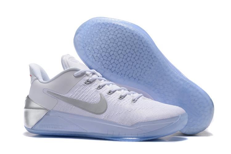 2017 Nike Kobe 12 AD White Sliver Shoes