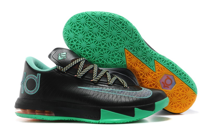 2014 Kevin Durant 6 Original Black Green Basketball Shoes
