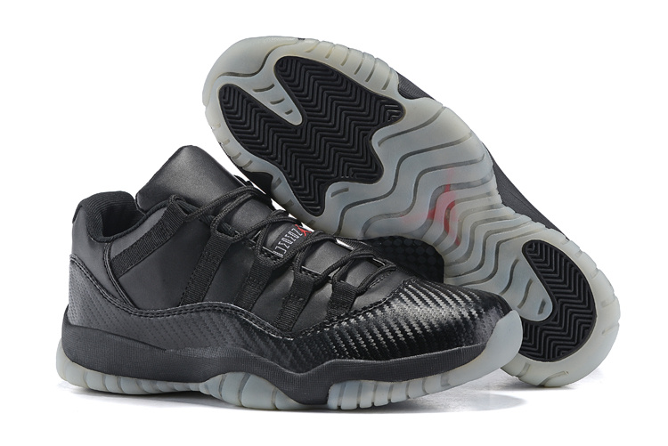 Nike Air Jordan 11 Retro All Black Transparent Sole Basketball Shoes