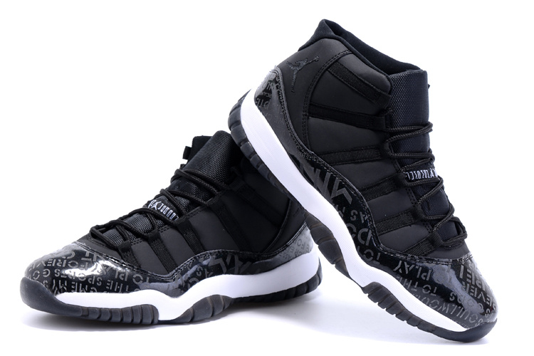 Nike Air Jordan 11 Retro Charity Black Basketball SHoes