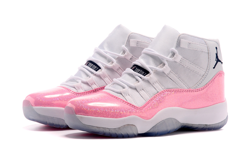 Nike Women Air Jordan 11 White Pink Shoes