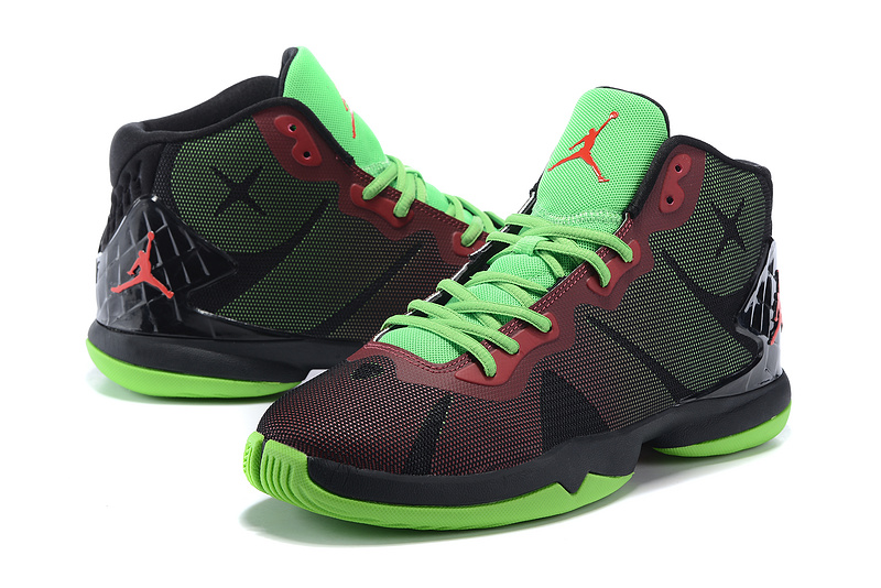 Nike Air Jordan Super Fly 4 Black Green Red Basketball Shoes