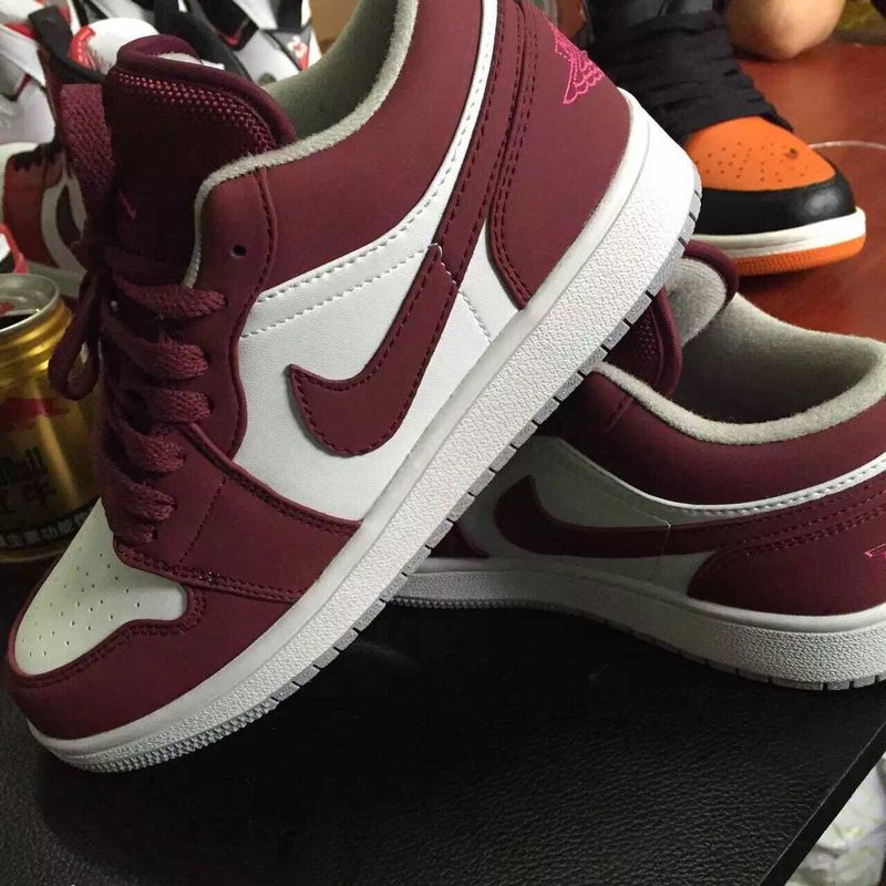 Nike Air Jordan 1 White Wine Red Sneaker