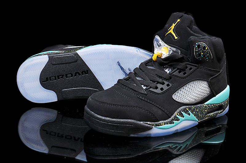 Nike Air Jordan 5 Black Green Sneaker