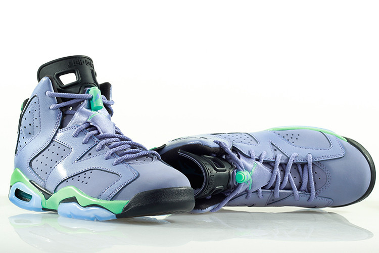 Nike Air Jordan 6 Retro Light Purple Green Black Women Size For Sale