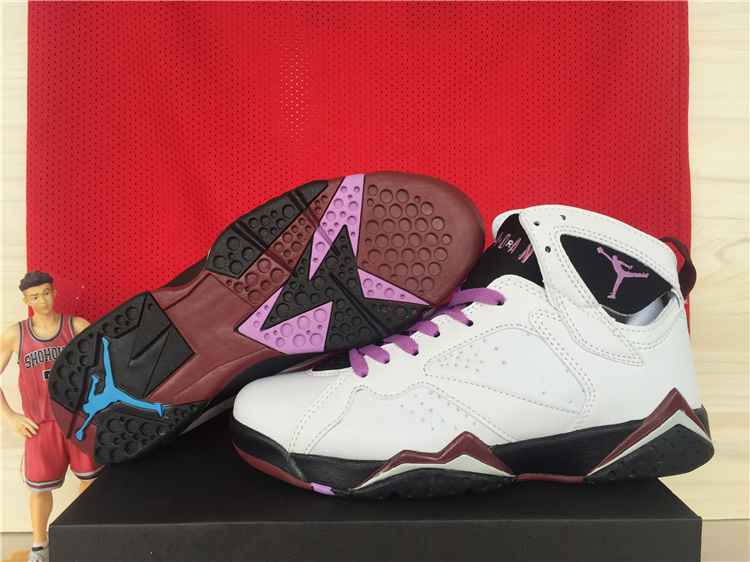 Nike Air Jordan 7 GS Fuchsia Glow White Purple Black Women Size