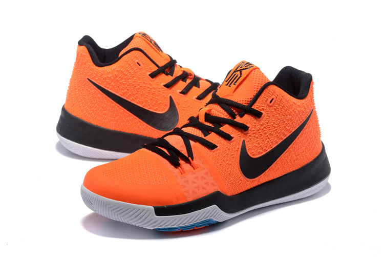 2017 Latest Nike Kyrie 3 Orange Black Shoes