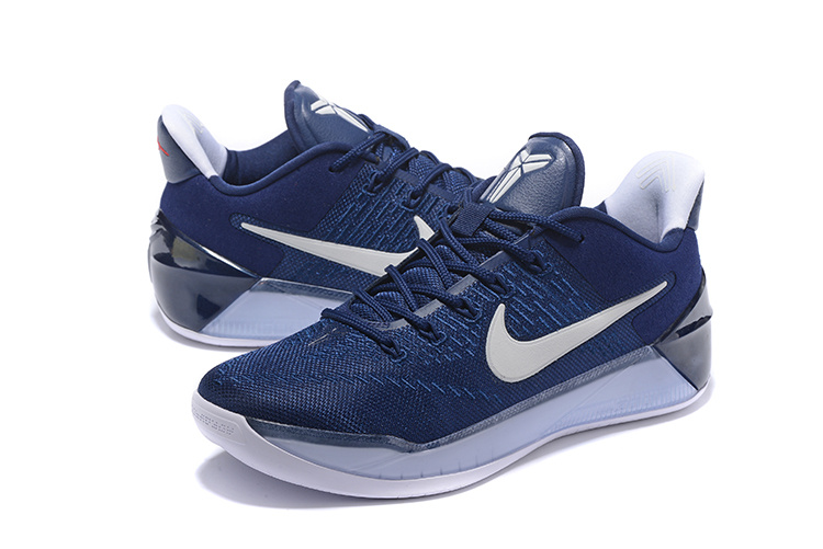 2017 Nike Kobe 12 AD Dark Blue White Shoes - Click Image to Close