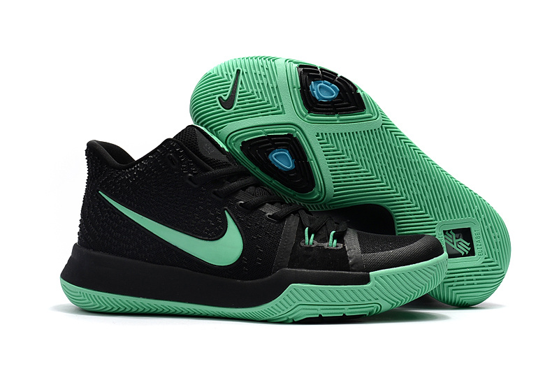 2017 Nike Kyrie 3 Black Jade Basketball Shoes
