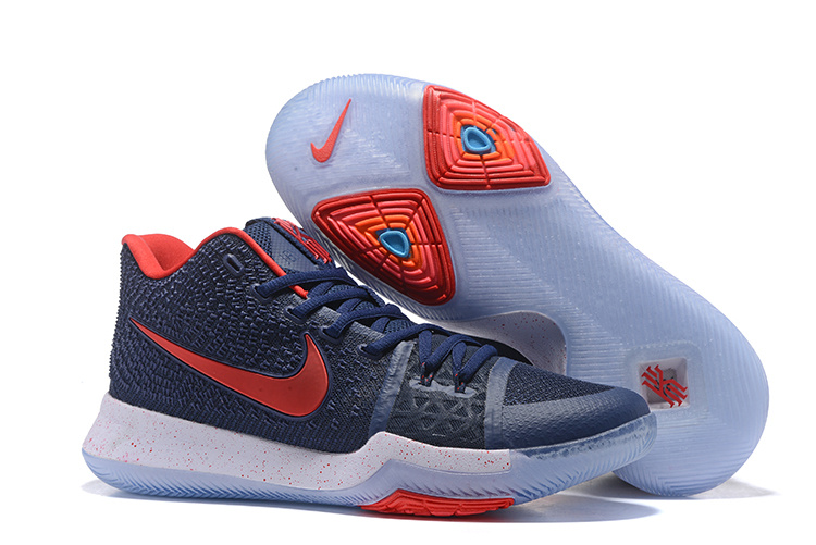 2017 Nike Kyrie 3 Dark Blue Red Basketball Shoes