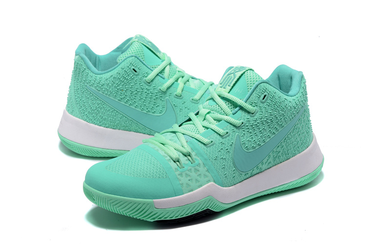 2017 Nike Kyrie 3 Light Green Baketball Shoes