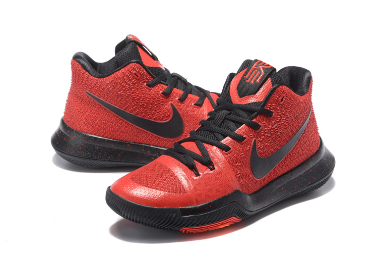 2017 Nike Kyrie 3 Red Black Basketball Shoes