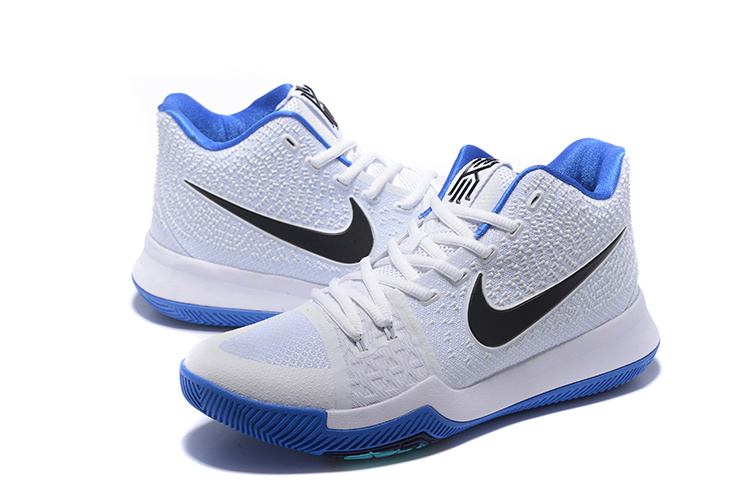 2017 Nike Kyrie 3 White Blue Basketball Shoes