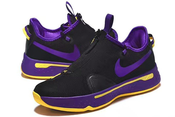 Nike PG 4 Black Purple Yellow Shoes