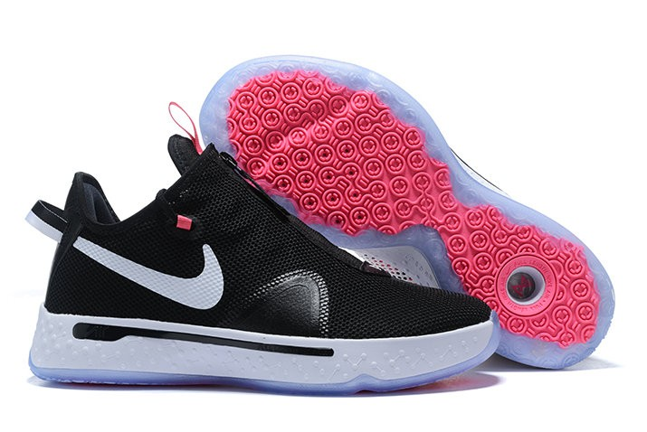 Nike PG 4 Black White Pink Shoes