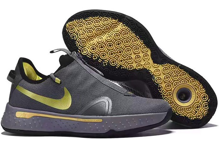 Nike PG 4 Carbon Grey Gold Shoes