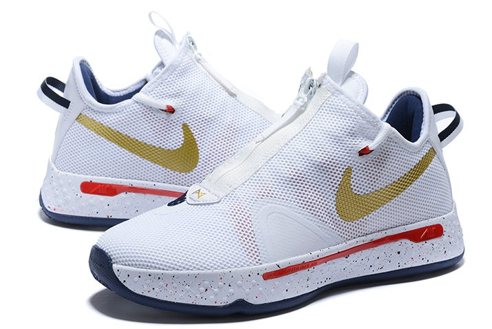 Nike PG 4 ISA Midnight Navy Gold Shoes