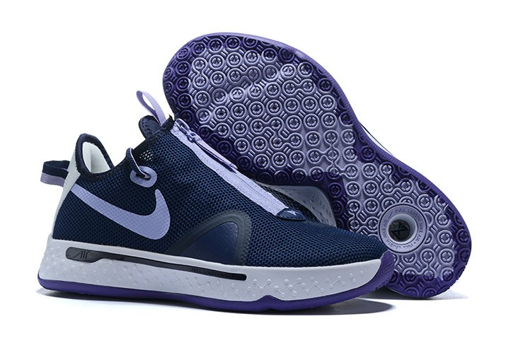 Nike PG 4 Navy Blue White Shoes