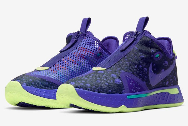 Nike PG 4 Purple Green Shoes