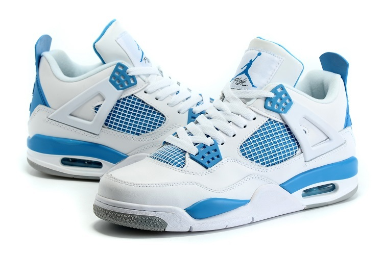 Nike Air Jordan 4 White Baby Blue Sneaker