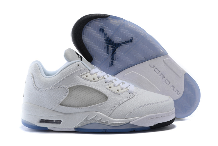 Nike Air Jordan 5 Retro Low All White Sneaker