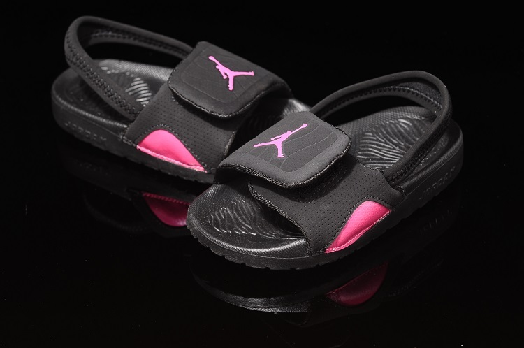 Black Pink Nike Air Jordan Hydro Kids Size