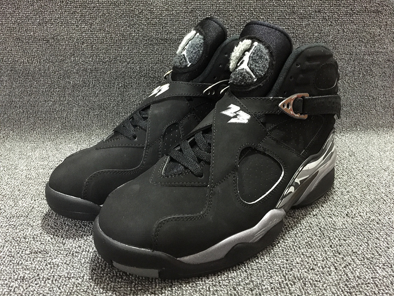 Nike Air Jordan 8 Chrome Black Sneaker For Sale