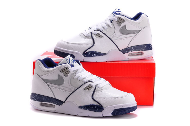 Classic Nike Air Flight 89 Original White Blue Shoes