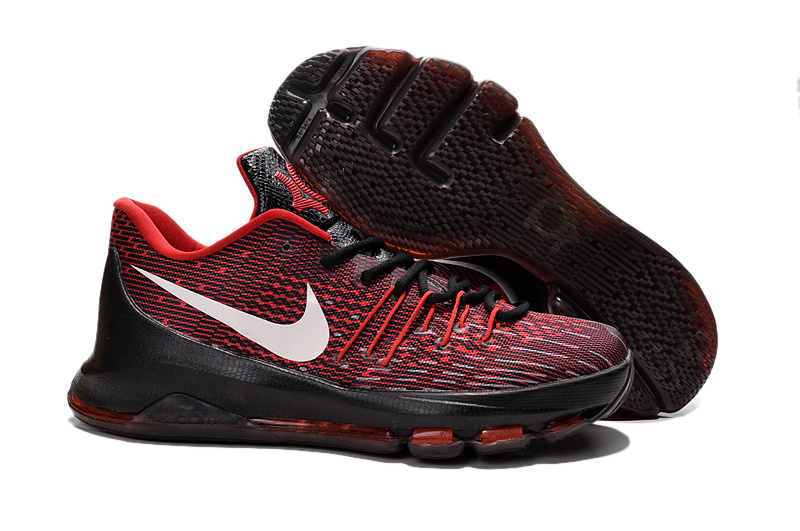 Factory Outlet KD 8 Black Univeristy Red White Shoes For Sale