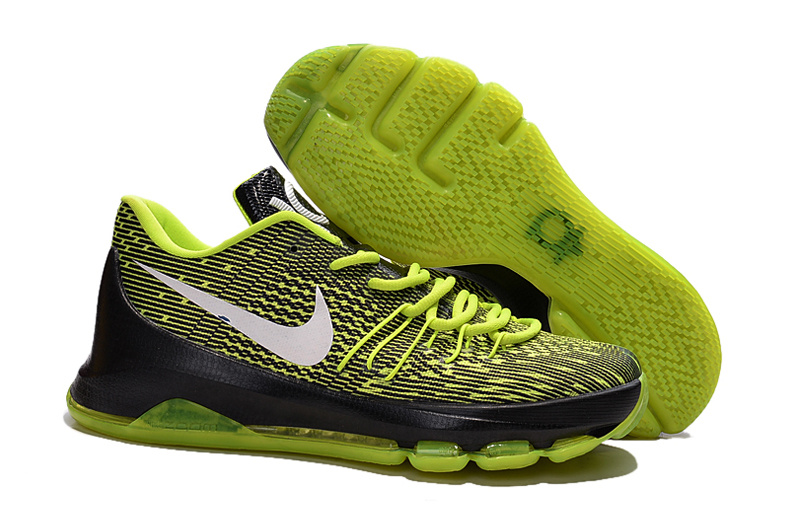 Factory Outlet KD 8 Electric Green Black White Shoes On Sale