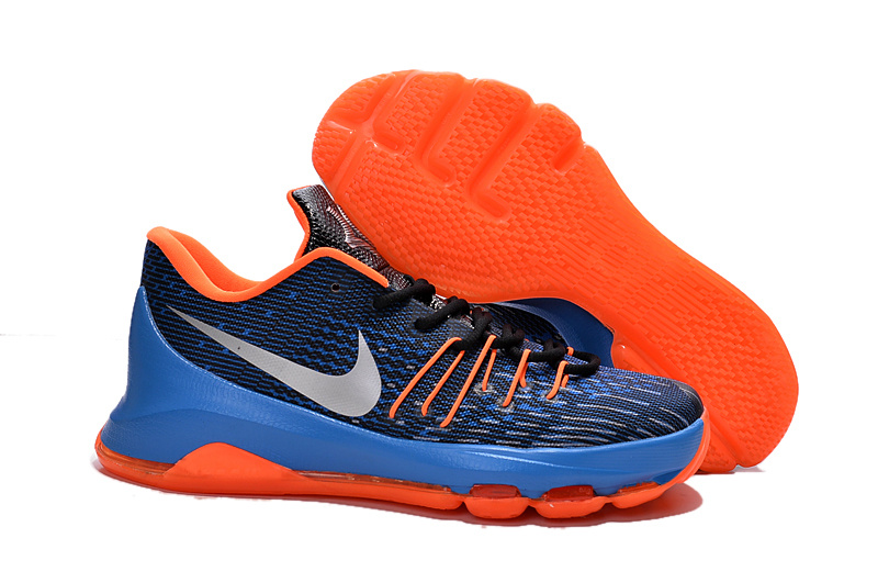 Factory Outlet KD 8 Midnight Navy Orange Royal Blue Shoes On Sale