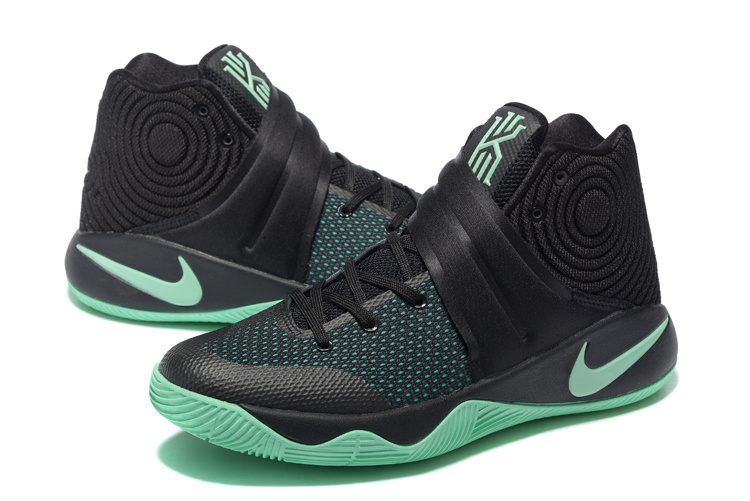 Latest Nike Kyrie Irving 2 Black Green Basketabll Shoes