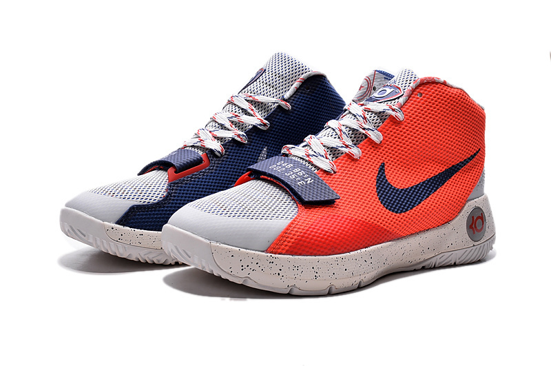 Nike KD Trey 5 III Orange White Blue Basketball Shoes