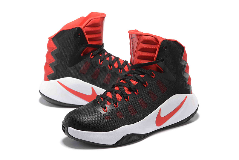 NIKE Hyperdunk 2016 Black Red White Shoes
