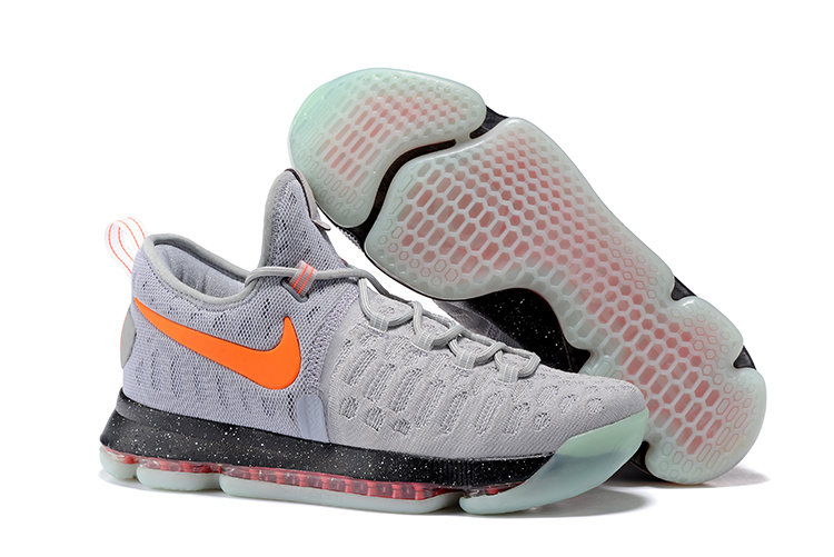 New Nike KD 9 Luminous gray color Air Cushion Basketball Shoes