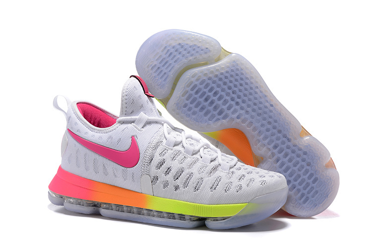 New Nike KD 9 Rainbow Air Cushion Basketball Shoes