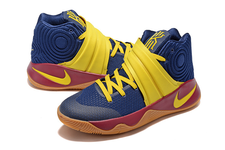 New Nike Kyrie Deep Blue Yellow Sneaker For Sale