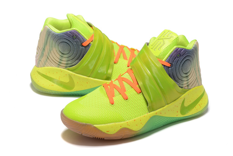 New Nike Kyrie Fluorscent Green Orange For Sale