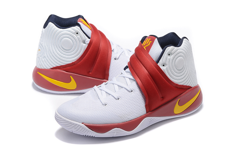 New Nike Kyrie White Red Yellow Sneaker For Sale