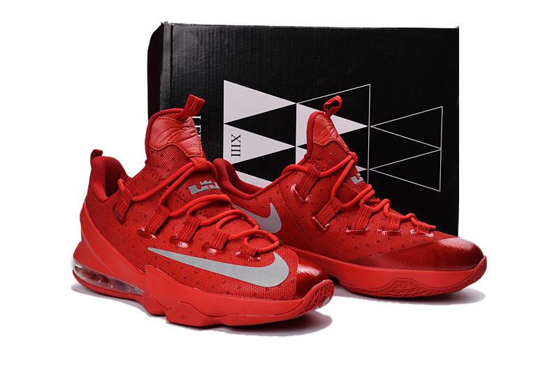 New Nike Lebron James 13 Low All Red Shoes