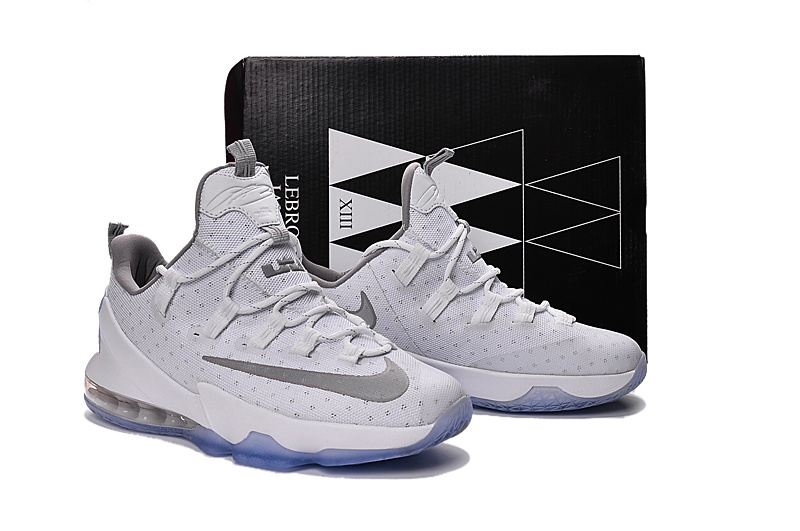 New Nike Lebron James 13 Low White Silver Shoes
