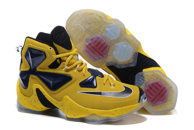 New Releases Lebron Sneakers Nike Lebron 13 Gold Yellow Black Yellow