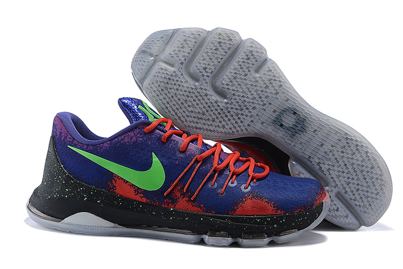 New Style Version Of Nike KD 8 Spray Paint Multi-Color Shoes On Sale