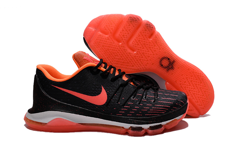 New Version Of Nike KD 8 Black Bright Crimson White Shoes