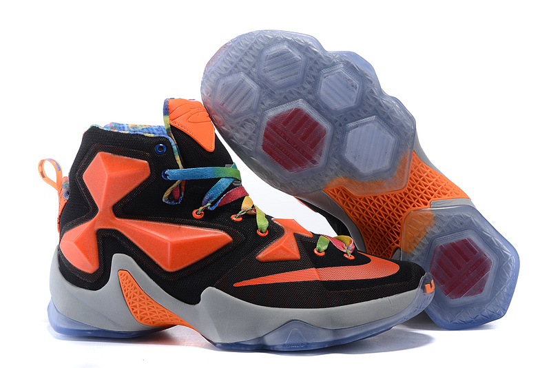 New Wholesale More Cheaper Nike Lebron 13 Black Team Orange White