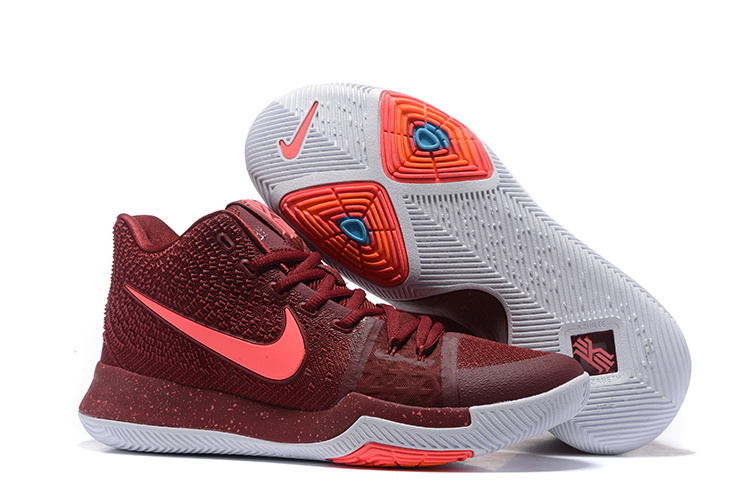New 2017 Nike Kyrie 3 Wine Red Shoes