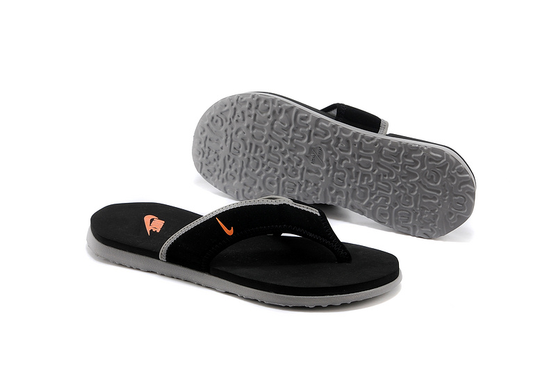New Black Orange Nike Flip flop Sillper