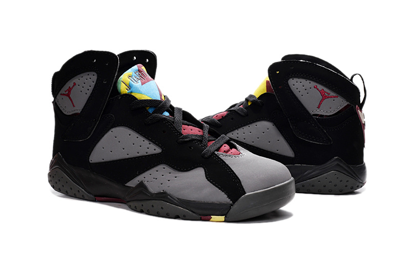 Nike Air Jordan 7 Grey Black Red For Sale